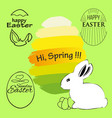 label elements easter phrases vector image vector image
