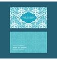 light blue swirls damask horizontal frame vector image vector image