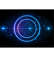 light futuristic game center circuit digital vector image vector image