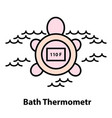 line icon of bath thermometer vector image vector image