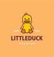 little duck cartoon logo icon vector image vector image