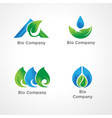 logo template for green company vector image vector image