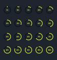 modern circle progress bar icon set vector image