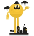 Monster in the city vector image