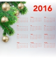 New year festive calendar for 2016 vector image vector image