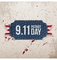 Patriot Day 9-11 realistic Tag vector image vector image