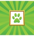 Paw picture icon vector image