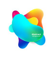 plastic colorful shapes fluid multicolor banner vector image vector image