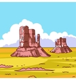Prairie landscape vector image vector image