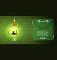ramadan kareem greeting or invitation card vector image vector image