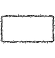 rectangular frame black graffiti tag pattern vector image vector image