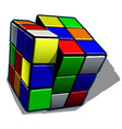 rubik cube isolated on white background vector image vector image