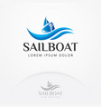 sailboat logo design vector image vector image