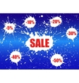 Sale Banner over white paint blot vector image vector image