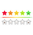 satisfaction rating set feedback icons in form vector image vector image