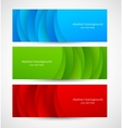 Set of abstract colorful banners vector image vector image