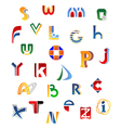 Set of full alphabet letters vector image