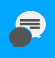 simple chat symbol icon vector image vector image