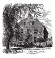 sir william pepperells house vintage vector image