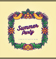 summer party frame hawaii vector image vector image