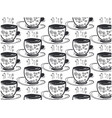 tea cups time on a white background vector image