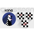 The moves of the chess king vector image vector image