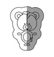 Toy teddy bear damaged design