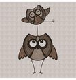 Two brown funny owls vector image