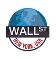 wall street new york world investment vector image vector image