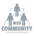 web community logo simple gray style vector image vector image