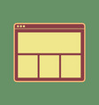 web window sign cordovan icon and mellow vector image vector image