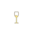 wineglass computer symbol vector image vector image