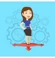 Woman choosing career way vector image vector image
