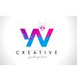 yv y v letter logo with shattered broken blue vector image vector image
