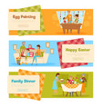 easter holiday banners set vector image