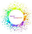 rainbow abstract flower background isolated on whi vector image