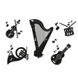 a set of different music instruments vector image