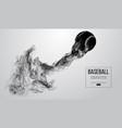 abstract silhouette of a baseball ball vector image