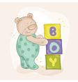 Baby Shower or Arrival Card - with Baby Bear vector image vector image