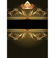 Background with luxurious golden ornament vector image vector image