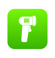 barcode scanner icon digital green vector image