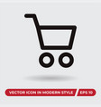 basket icon in modern style for web site and vector image vector image