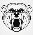 Bear Head Tribal vector image vector image