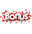 Bonus 3d sign vector image vector image
