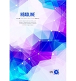Business brochure Abstract polygonal backgrounds vector image