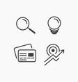 business icon sets vector image vector image