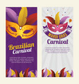 carnival mardi gras background invitation flyers vector image