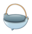 cauldron for fire camp icon cartoon style vector image vector image