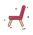 chair icon design vector image vector image