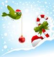 christmas bird vector image vector image